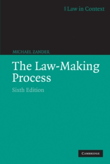 The Law-making Process, Paperback