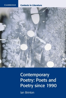 Contemporary Poetry : Poets and Poetry Since 1990, Paperback