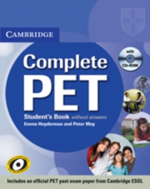 Complete PET Student's Book without Answers with CD-ROM, Mixed media product