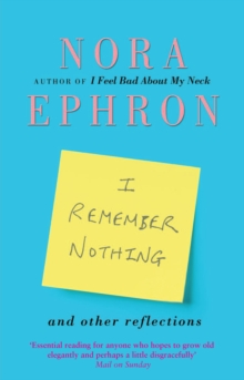 I Remember Nothing and Other Reflections, Paperback