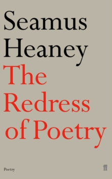 Redress of Poetry : Oxford Lectures, Paperback