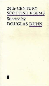 20th-century Scottish Poems, Paperback Book
