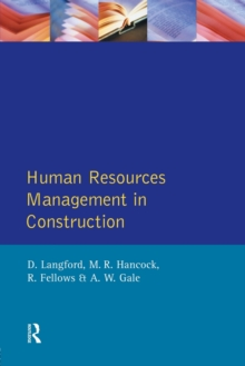Human Resources Management in Construction, Paperback