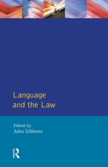 Language and the Law, Paperback