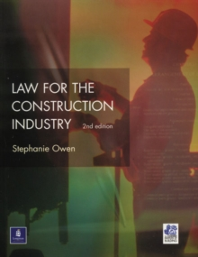 Law for the Construction Industry, Paperback