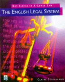 Key Issues in A-level Law : The English Legal System The English Legal System, Paperback