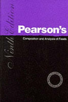 Pearson's Composition and Analysis of Foods, Paperback