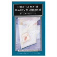 Stylistics and the Teaching of Literature, Paperback Book