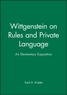 Wittgenstein on Rules and Private Language, Paperback