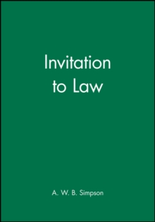 Invitation to Law, Paperback