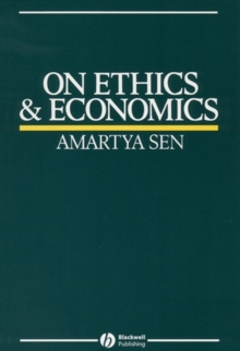 On Ethics and Economics, Paperback