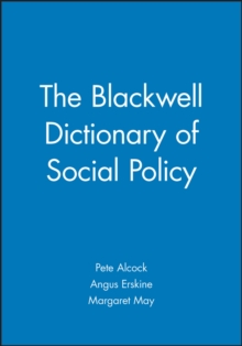 The Blackwell Dictionary of Social Policy, Paperback