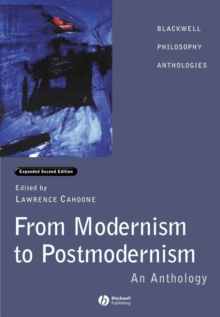 From Modernism to Postmodernism : An Anthology, Paperback