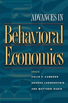Advances in Behavioral Economics, Paperback