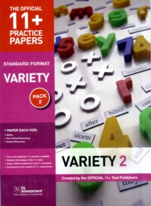 11+ Practice Papers, Variety Pack 2, Standard : Maths Test 2, Verbal Reasoning Test 2, Non-verbal Reasoning Test 2, Paperback