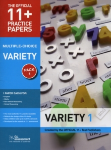 11+ Practice Papers, Variety Pack 1, Multiple Choice : English Test 1, Maths Test 1, Verbal Reasoning Test 1, Non-Verbal Reasoning Test 1, Paperback