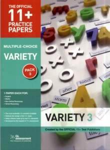 11+ Practice Papers, Variety Pack 3, Multiple Choice : English Test 3, Maths Test 3, Verbal Reasoning Test 3, Non-verbal Reasoning Tests 3, Paperback