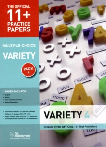 11+ Practice Papers, Variety Pack 4, Multiple Choice : English Test 4, Maths Test 4, Verbal Reasoning Test 4, Non-verbal Reasoning Test 4., Paperback Book