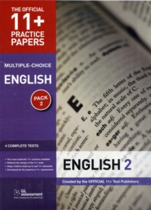 11+ Practice Papers English Pack 2 (Multiple Choice) : English Test 5, English Test 6, English Test 7, English Test 8, Pamphlet