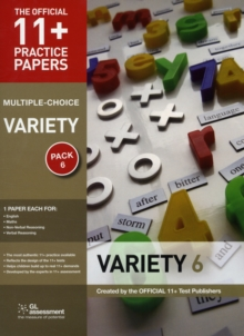 11+ Practice Papers, Variety Pack 6 (Multiple Choice) : English Test 6, Maths Test 6, NVR Test 6, VR Test 6, Pamphlet Book