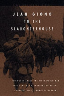 To the Slaughterhouse, Paperback