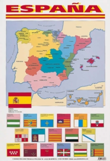 Espana (map of Spain), Poster