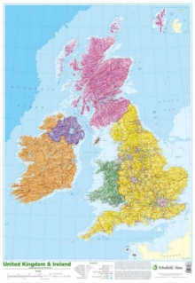 Map of UK and Ireland, Poster