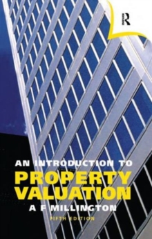 An Introduction to Property Valuation, Paperback Book