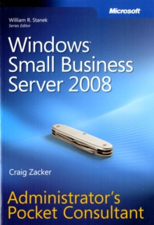 Windows Small Business Server 2008 Administrator's Pocket Consultant, Paperback