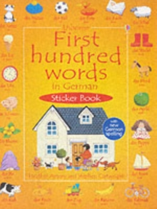 First Hundred Words In German Sticker book, Paperback Book