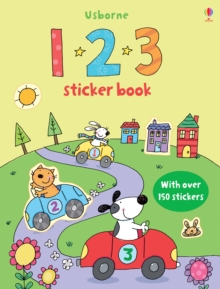 123 Sticker Book, Paperback