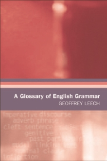 A Glossary of English Grammar, Paperback