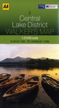 Central Lake District, Sheet map, folded