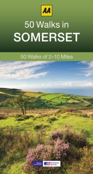 50 Walks in Somerset, Paperback Book