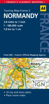 2. Normandy : AA Road Map France, Sheet map, folded