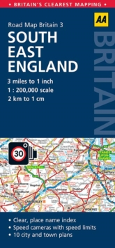 South East England Road Map, Sheet map, folded