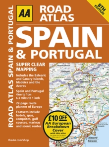 AA Road Atlas Spain and Portugal, Spiral bound