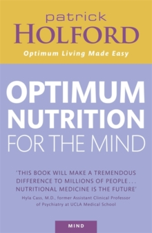 Optimum Nutrition for the Mind, Paperback