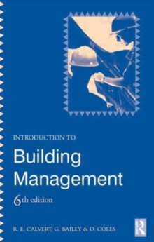 Introduction to Building Management, Paperback Book
