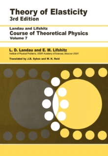 Theory of Elasticity, Paperback