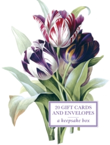 Tin Box of 20 Gift Cards and Envelopes: Redoute Tulip, Cards