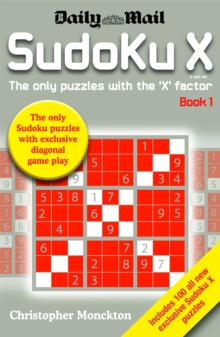 Sudoku X : The Only Puzzle with the X Factor Book 1, Paperback Book