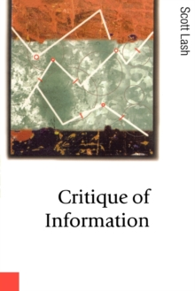 Critique of Information, Paperback Book