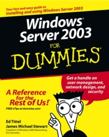 Windows Server 2003 For Dummies, Paperback