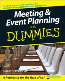 Meeting and Event Planning For Dummies, Paperback