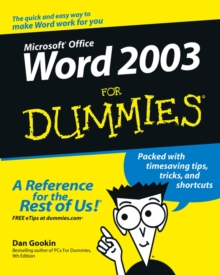 Word 2003 For Dummies, Paperback