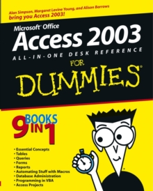 Access 2003 All-in-One Desk Reference For Dummies, Paperback