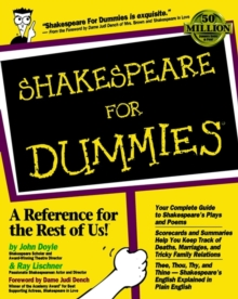 Shakespeare For Dummies, Paperback