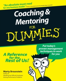 Coaching and Mentoring For Dummies, Paperback