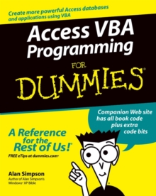 Access VBA Programming For Dummies, Paperback